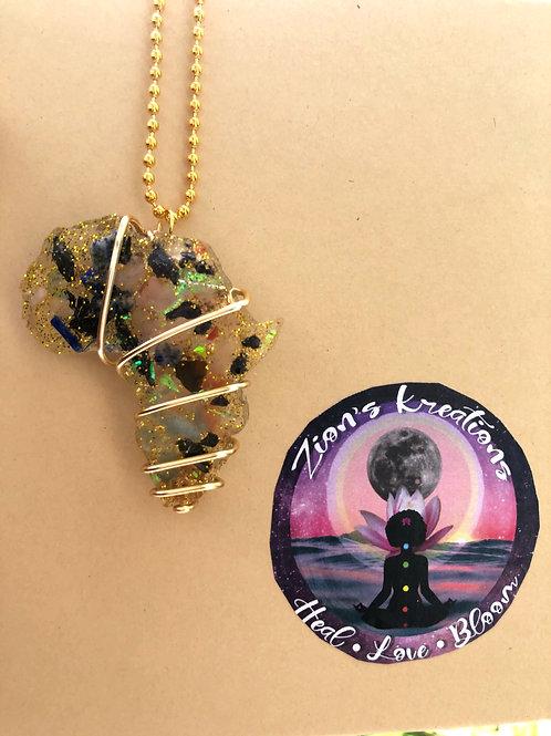 Africa orgonite (medium) necklace