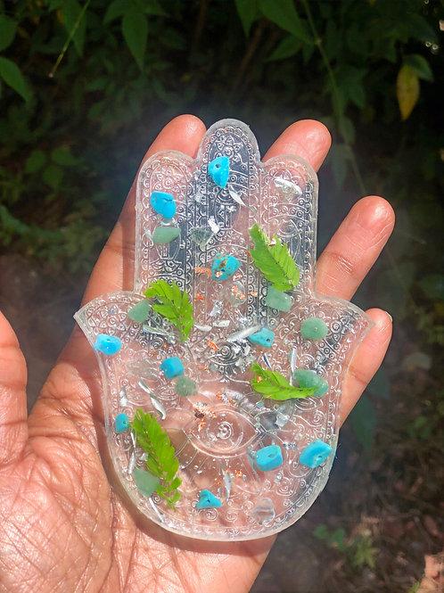 Resin Orgone Innergy Hamsa Hand