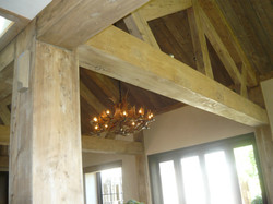 Grey stained beams