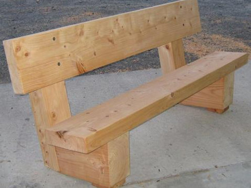 Bench Seat with Back Rest