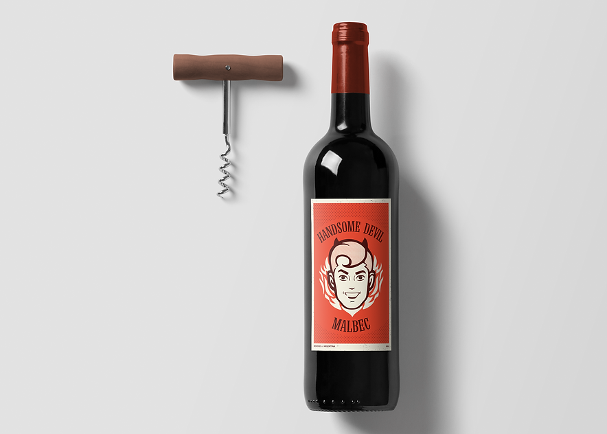 Mockup for Handsome Devil Wine