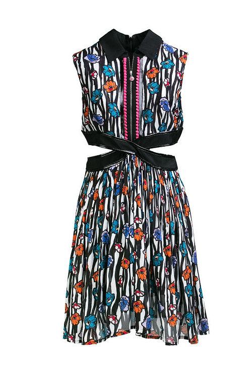 Zebra flower open cross dress