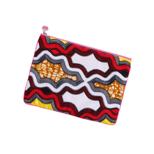 African Clutch White