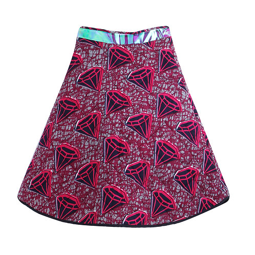 Quilted diamond skirt