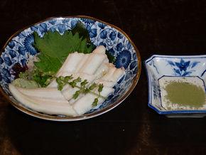 穴子は天ぷらにも出来ます。