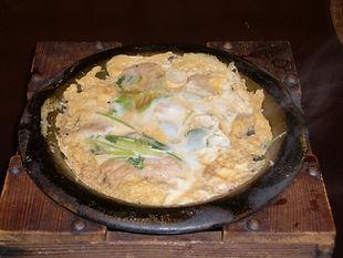 牡蠣の卵とじ味噌風味も御座います。