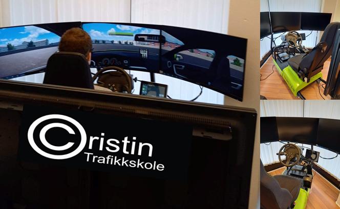 Gratis kjøretimer i kjøresimulator hos Cristin Trafikkskole i Askim i Indre Øsfold