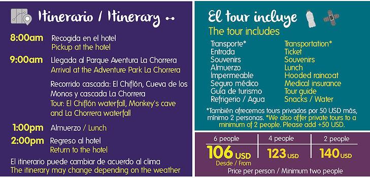 TOUR LA CHORRERA