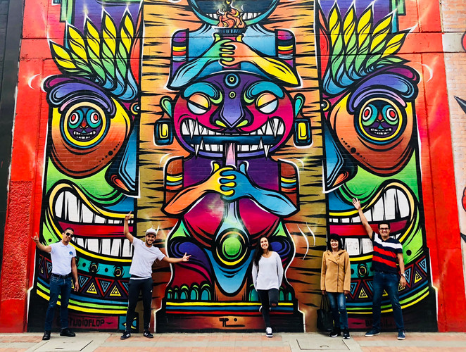 Tour Del graffiti en Bogotá. Distrito Graffiti