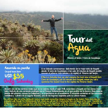 Tour del Agua Bogotá 6 horas