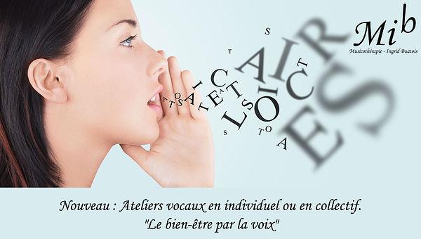 Cours de chant individuel atelier vocal Ingrid Buatois Musicothérapeute Haut Jura Sant-Lupicin