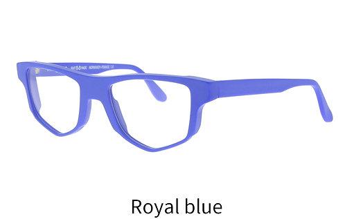 Lunettes de vue - The superman - Acétate mat royal blue