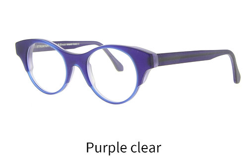 Lunettes de vue - The huge - Acétate mat purple clear