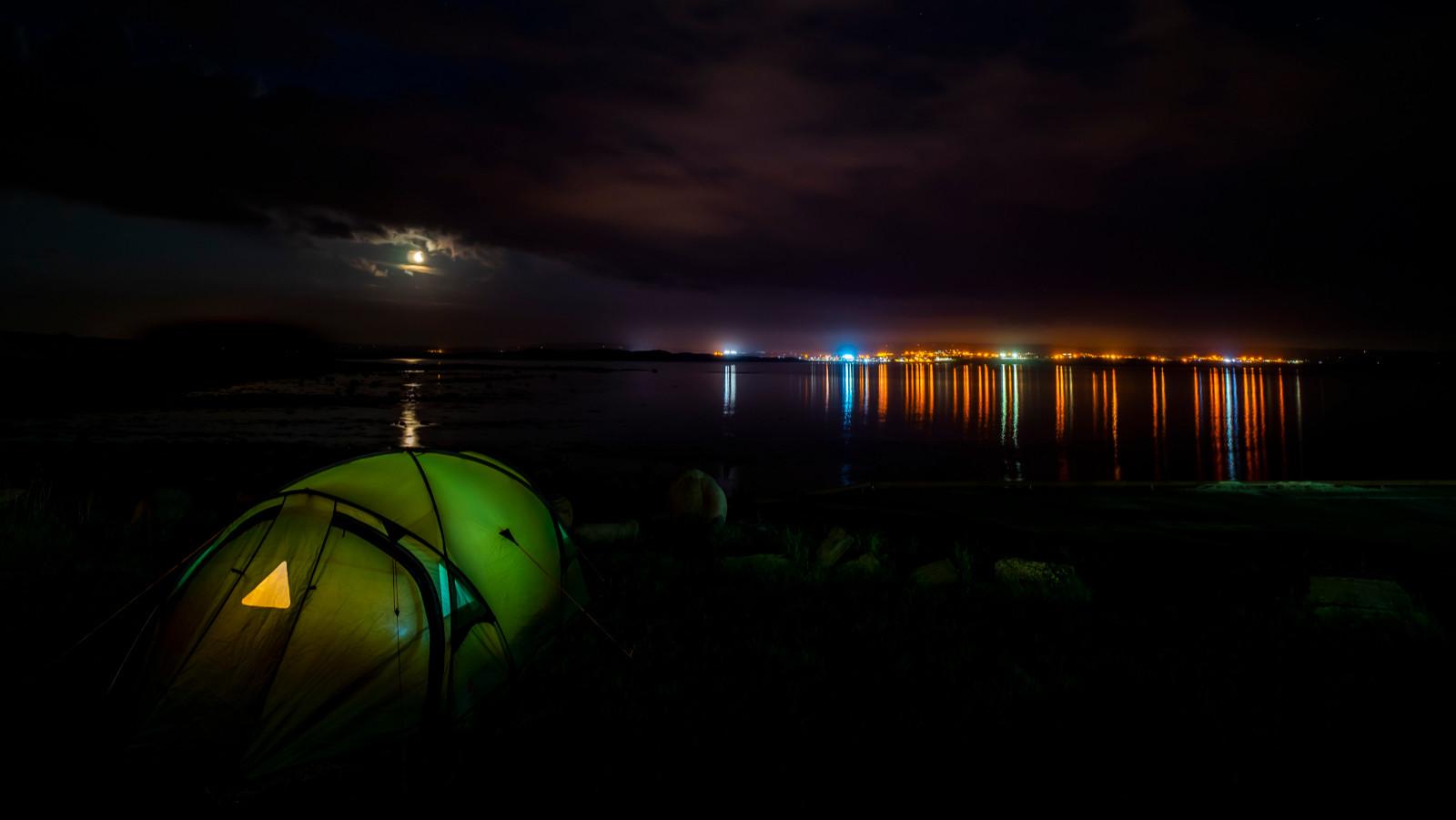 'Nightlights' by Mark Gwynne (8 marks)  -  Larne Camera Club