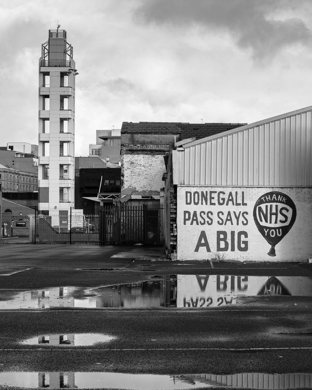 'Belfast Thanks You' by Paul Mcilwaine (8 marks)  -  Larne Camera Club