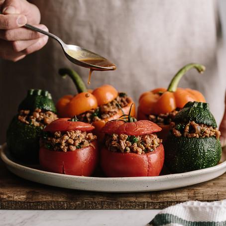 Recette des poivrons farcis à la protéine de soja