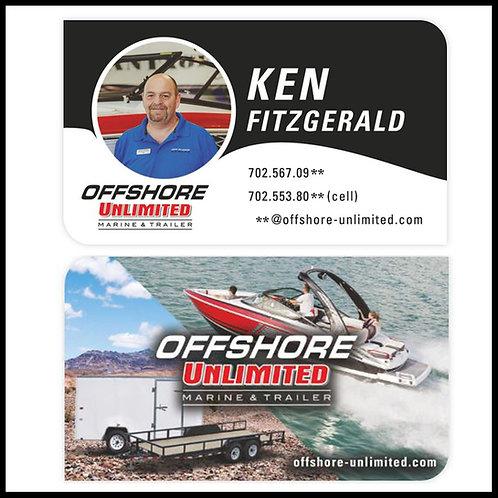 Custom Silk Laminated Business Cards