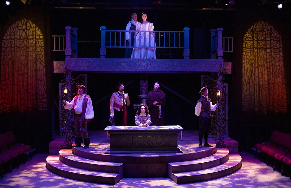 Much Ado About Nothing lighting design by Josh Hemmo The Rogue Theatre