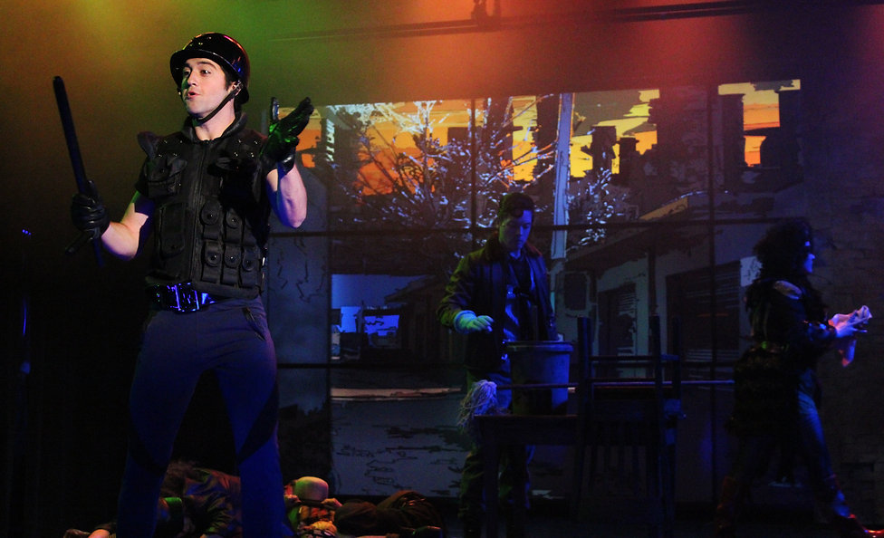 Urinetown lighting design by Josh Hemmo