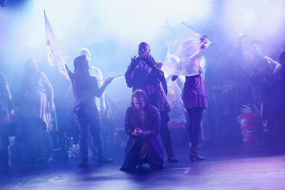 Revelation: The Musical off-broadway lighting design by Josh Hemmo