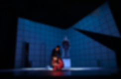 The Curious Incident of the Dog in the Night-time lighting design by Josh Hemmo