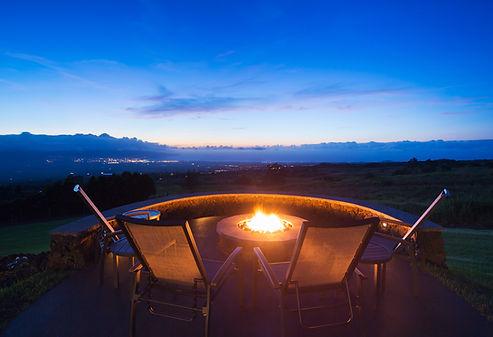 Luxury backyard fire pit at sunset.jpg