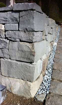 Sandstein Trockenmauer