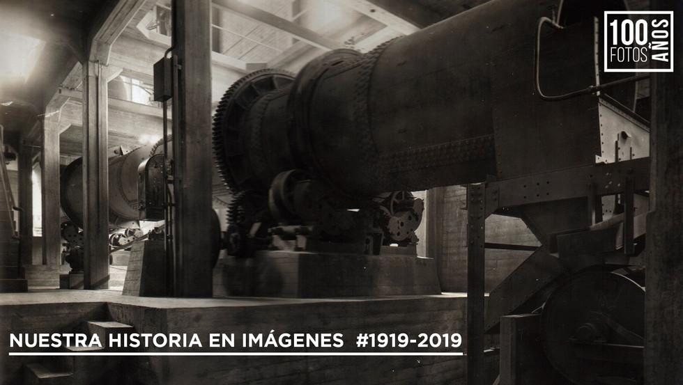 Interior fábrica - horno de cemento
