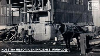 Operarios y la utilización del caballo en construccion