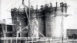 Operarios construcción de silos