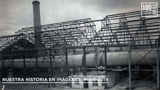 Operarios en montaje infraestructura horno