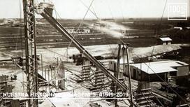 Vista construccion fábrica de cal e infraestructura