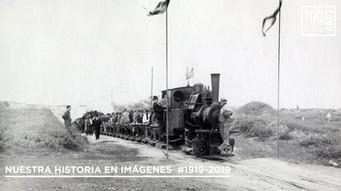 Inauguración - locom - con vagonetas para comitiva