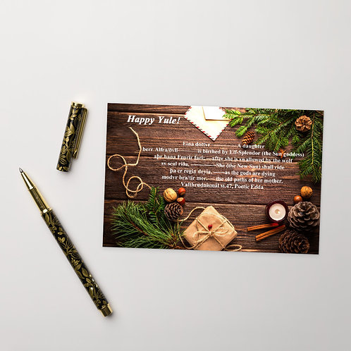 Yule Card 1