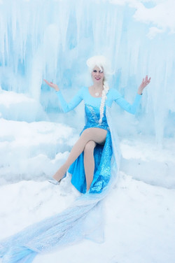 Elsa Frozen Party Utah Ice Castles