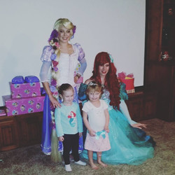 Ariel and Rapunzel Birthday Party