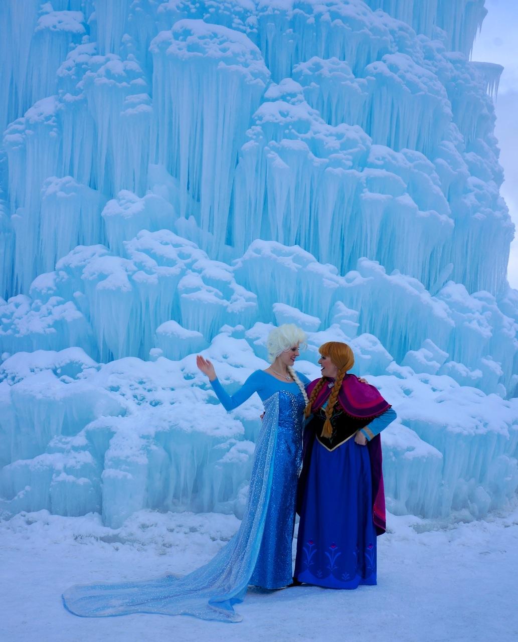 Ice castles Midway frozen Elsa Anna