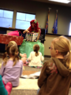 Free library princess party