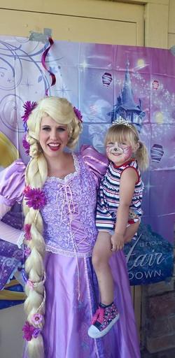 Rapunzel Face Painting Party Utah