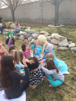 Story time with Elsa princess party