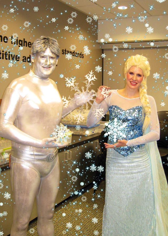 Elsa Meets Iceman!