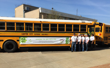 Canton City School District Debuts Compressed Natural Gas Buses