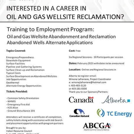 Interested in a career in Oil and Gas Wellsite Reclamation?