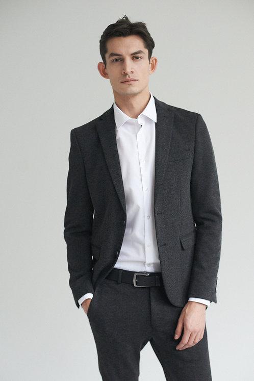 Твидовый серый костюм