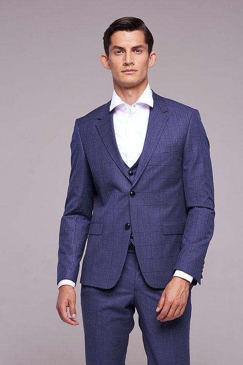 Сизый костюм-тройка