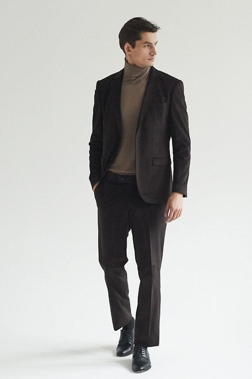 Бархатный коричневый костюм
