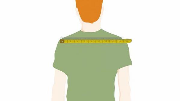 Замер ширины плечей