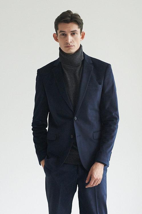 Бархатный сапфировый костюм