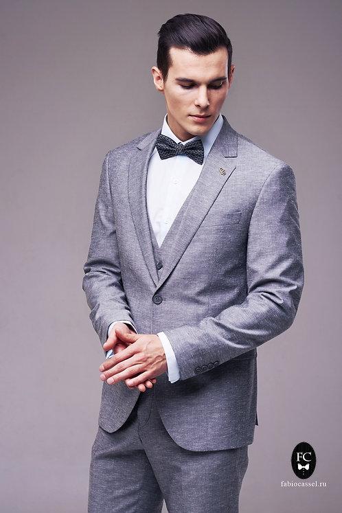 Пепельно-серый костюм-тройка FC6/05/127