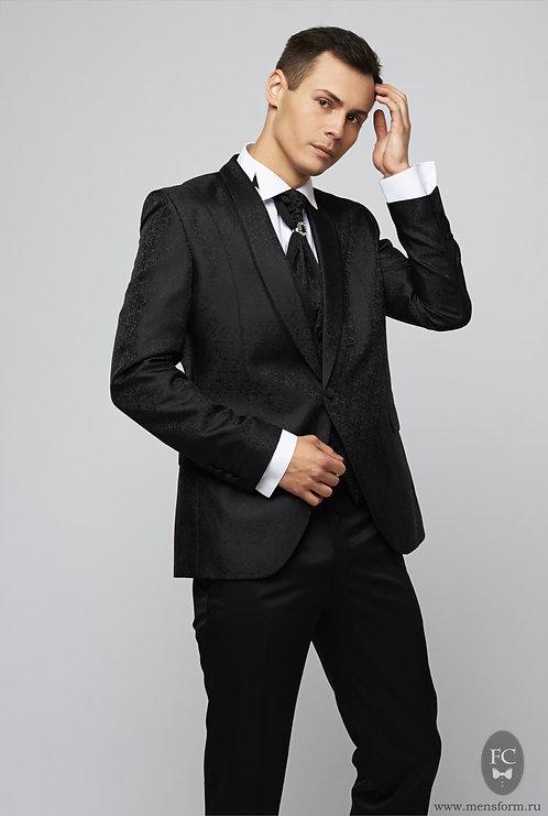 Черный костюм-тройка